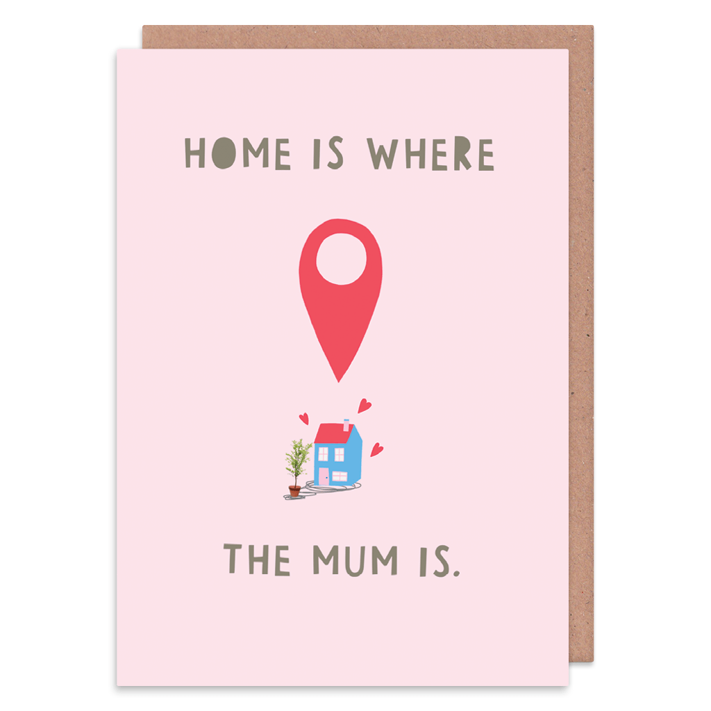 Home Is Where The Mum Is Greeting Card by Zoe Spry - Whale and Bird