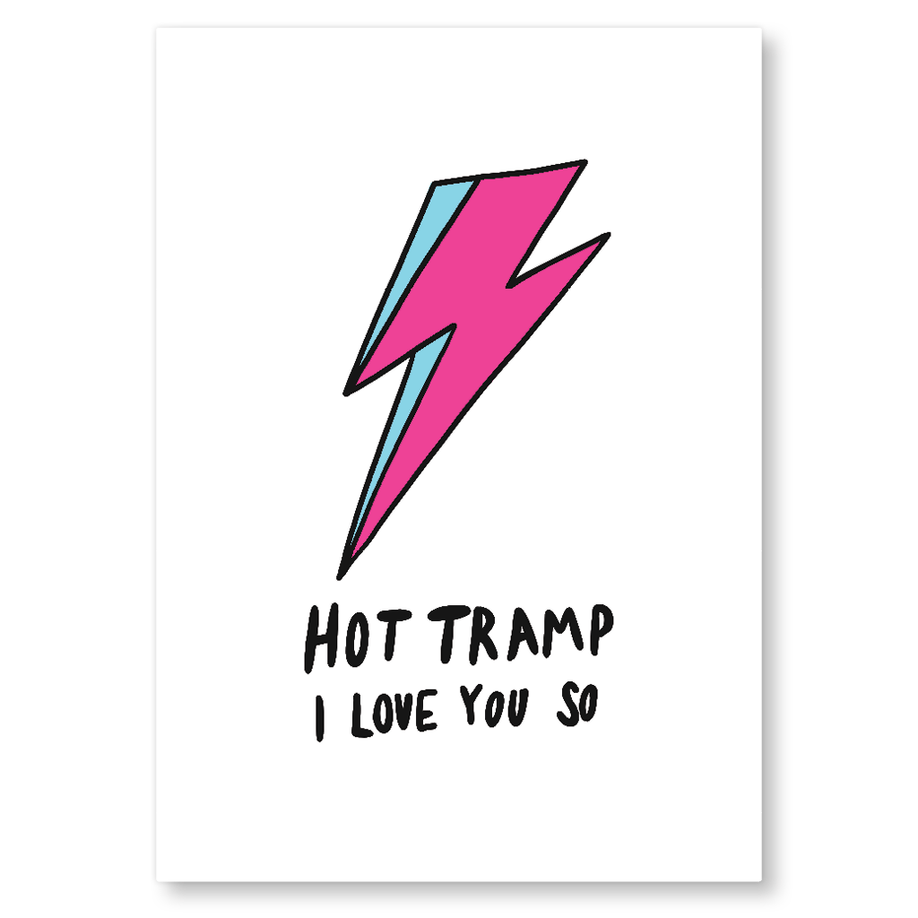 Hot Tramp I Love You So Postcard by Corrin Strain - Whale and Bird