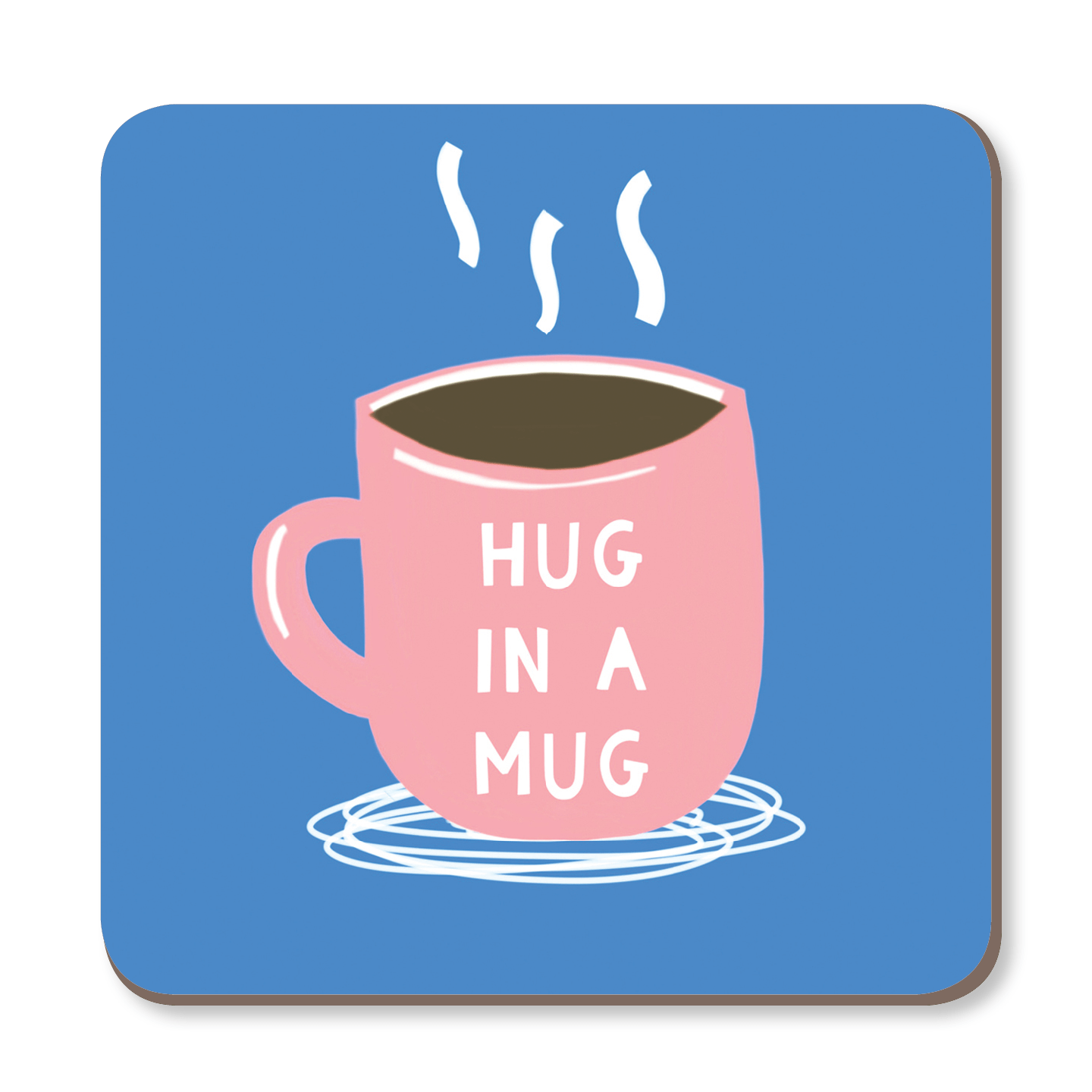 Hug In a Mug Coaster by Zoe Spry - Whale and Bird