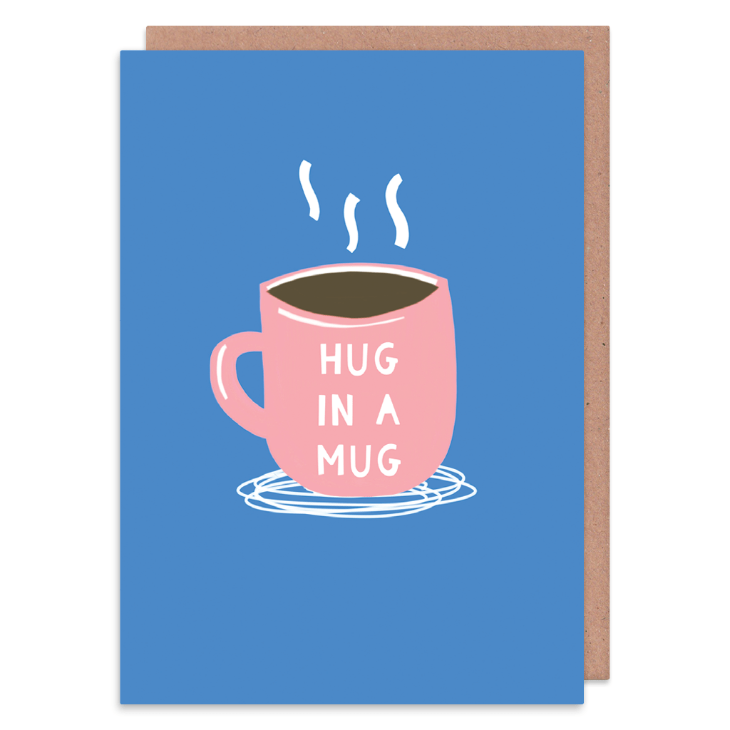 Hug In a Mug Greeting Card by Zoe Spry - Whale and Bird