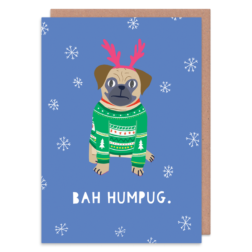 Bah Humpug Christmas Card by Zoe Spry - Whale and Bird