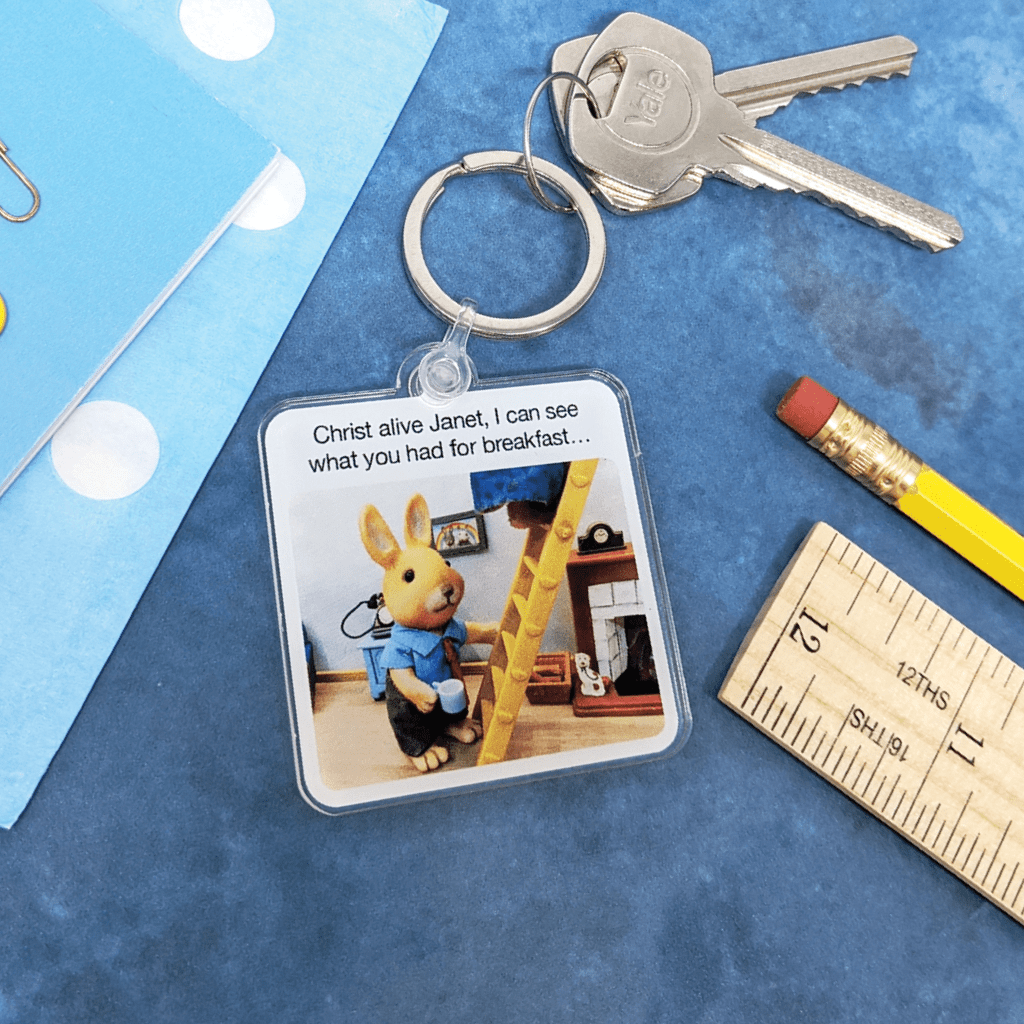 I Can See What You Had For Breakfast Keyring by forest fr1ends - Whale and Bird
