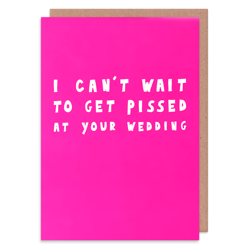 I Can't Wait Wedding Card by George The Cardmaker - Whale and Bird