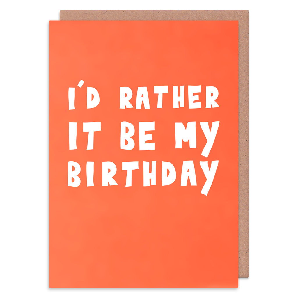 I'd Rather It Be My Birthday Card by George The Cardmaker - Whale and Bird