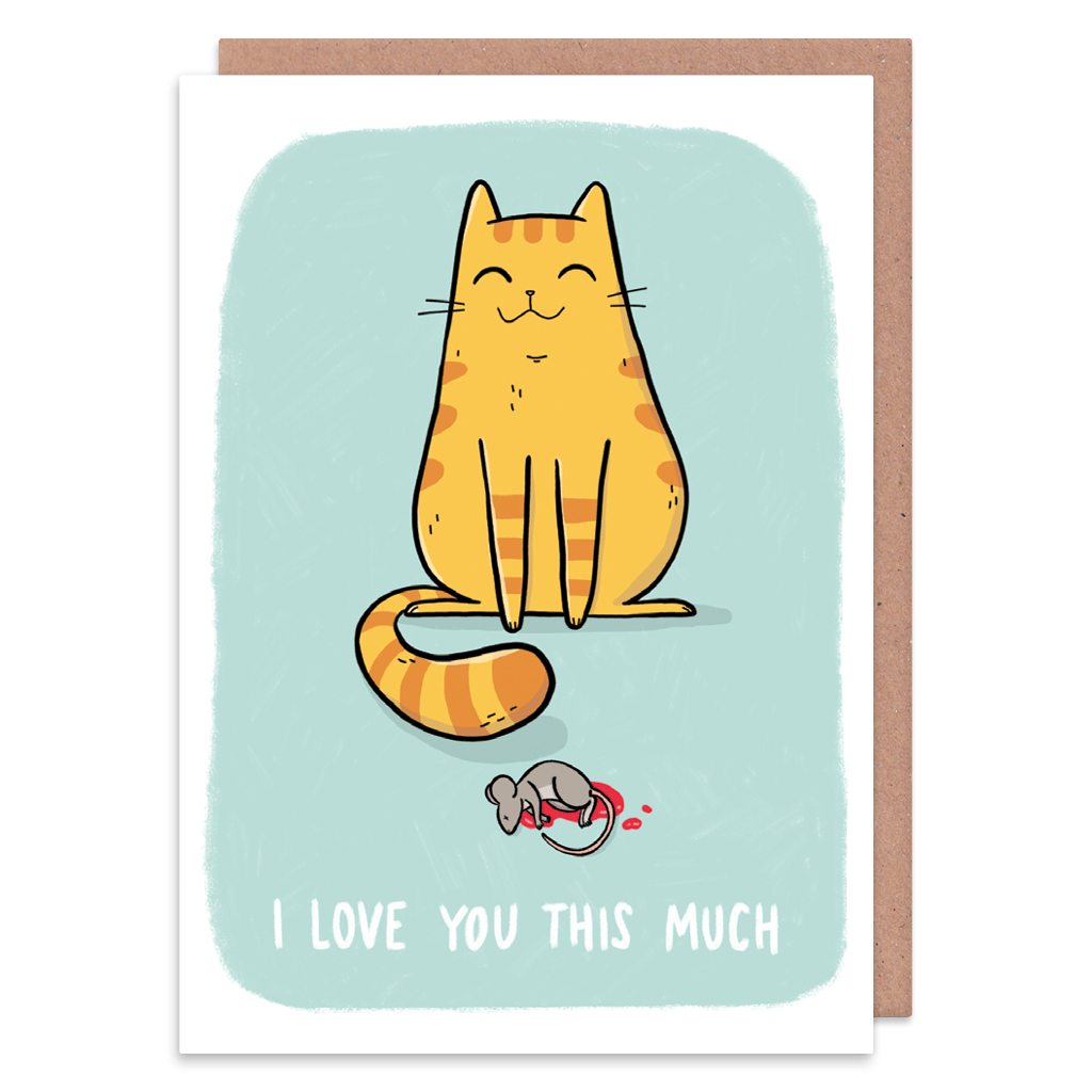 I Love You This Much Ginger Cat Greeting Card