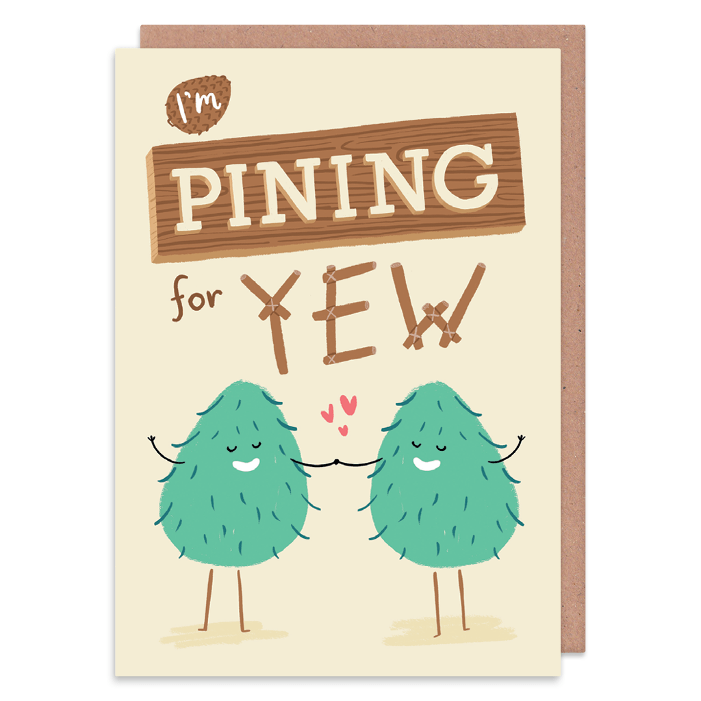 I'm Pining For Yew Greeting Card by Lisa Greener - Whale and Bird