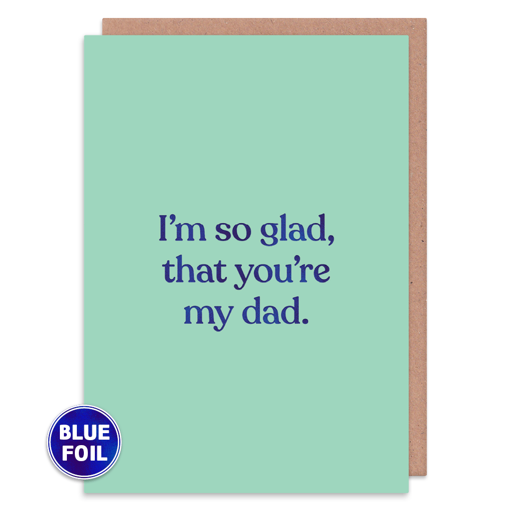 I'm So Glad That You're My Dad Greeting Card by Amy Wicks - Whale and Bird