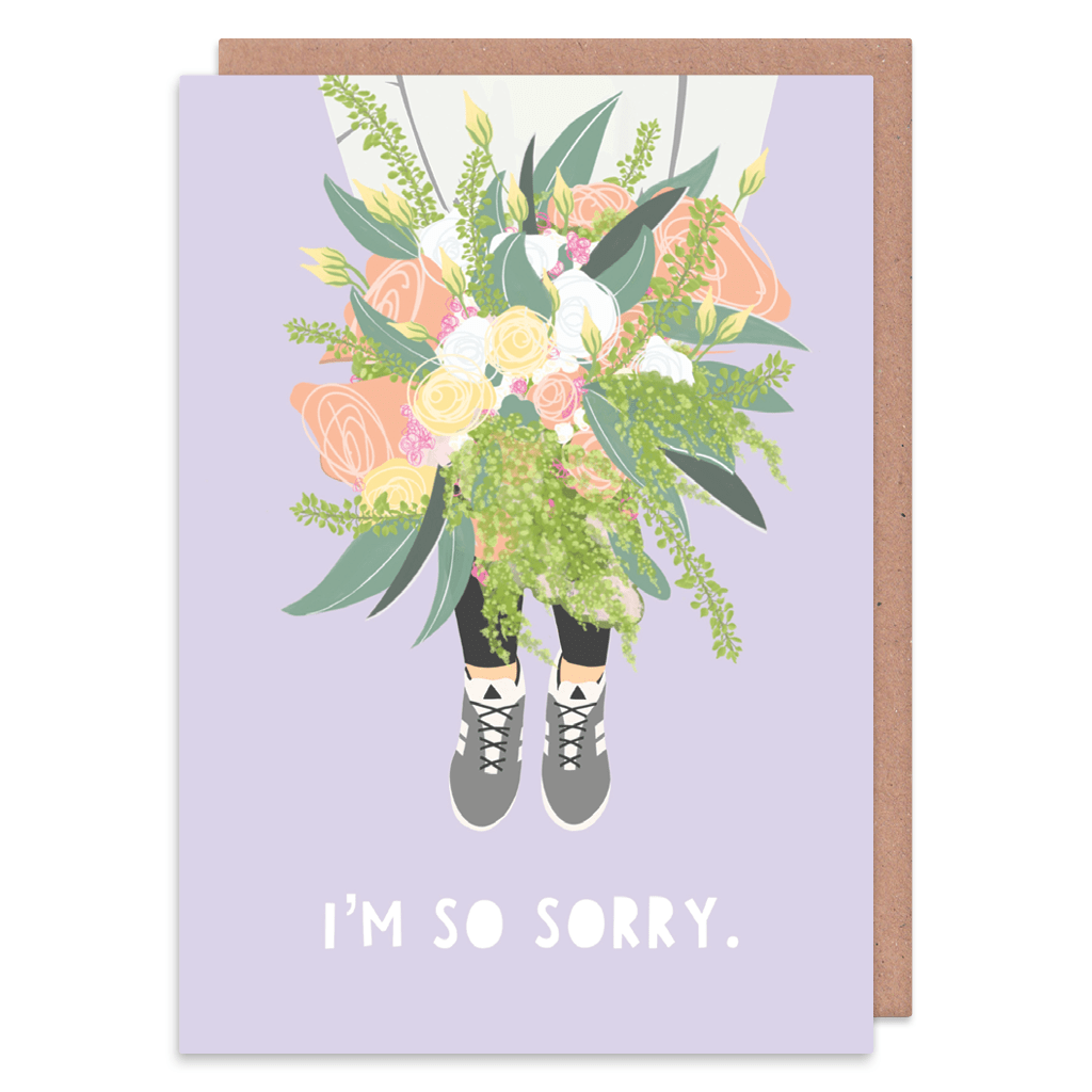 I'm So Sorry Card by Zoe Spry - Whale and Bird