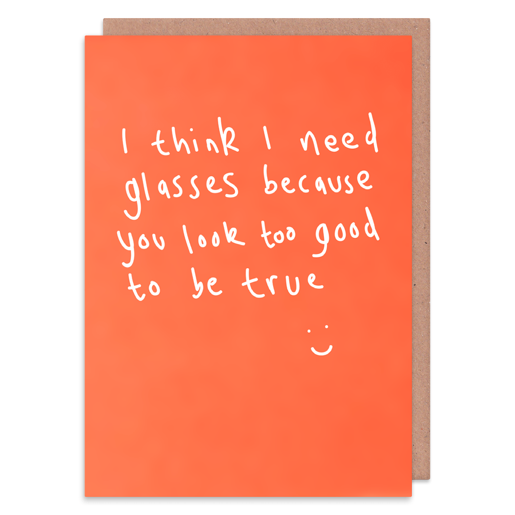 I Think I Need Glasses Greeting Card by George The Cardmaker - Whale and Bird