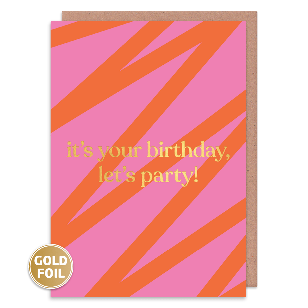 It's Your Birthday Let's Party! Birthday Card by Amy Wicks - Whale and Bird