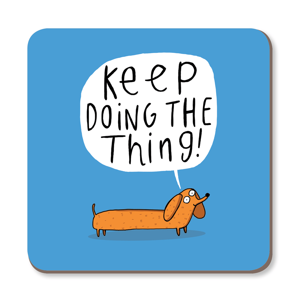 Keep Doing The Thing Coaster by Katie Abey - Whale and Bird