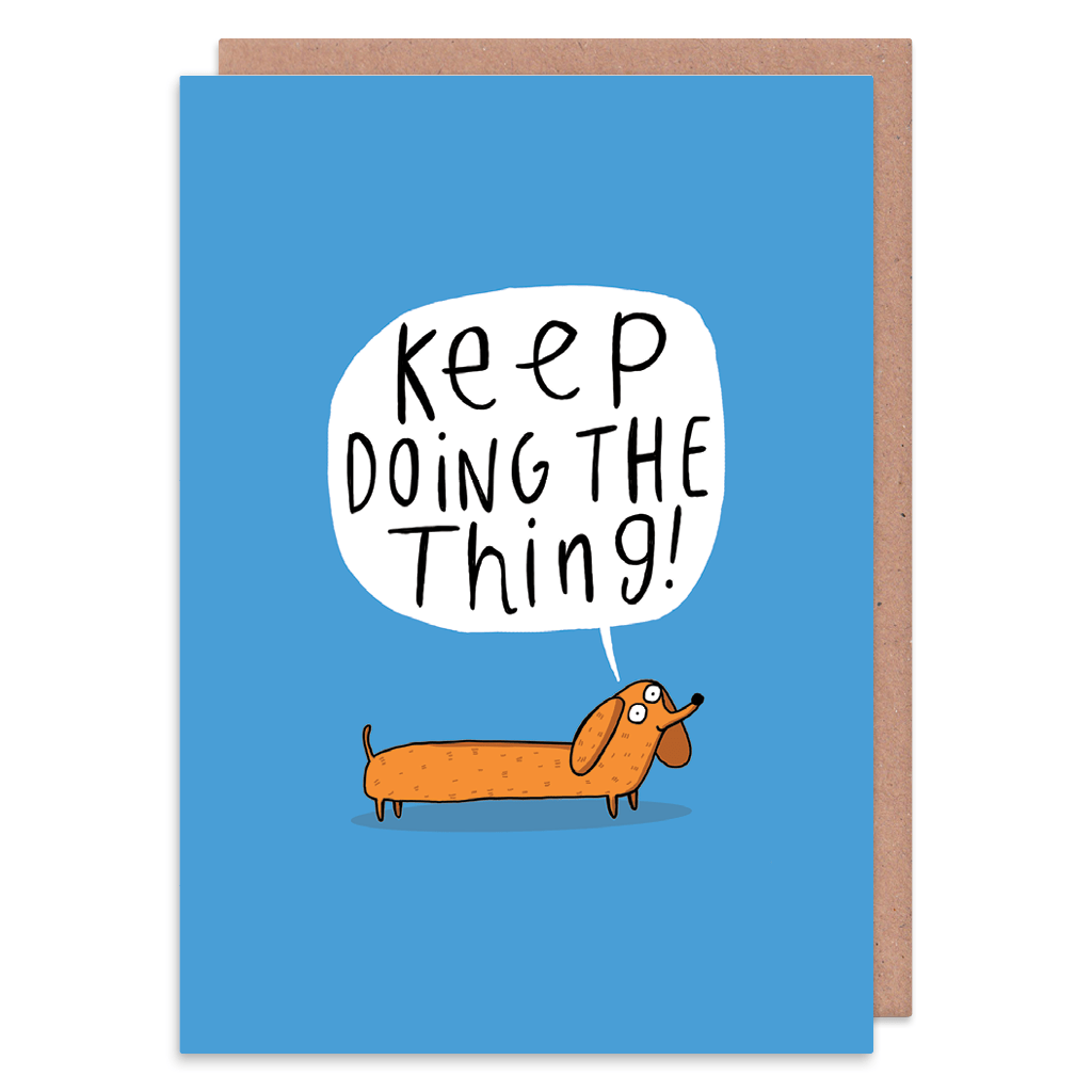 Keep Doing The Thing Greeting Card by Katie Abey - Whale and Bird