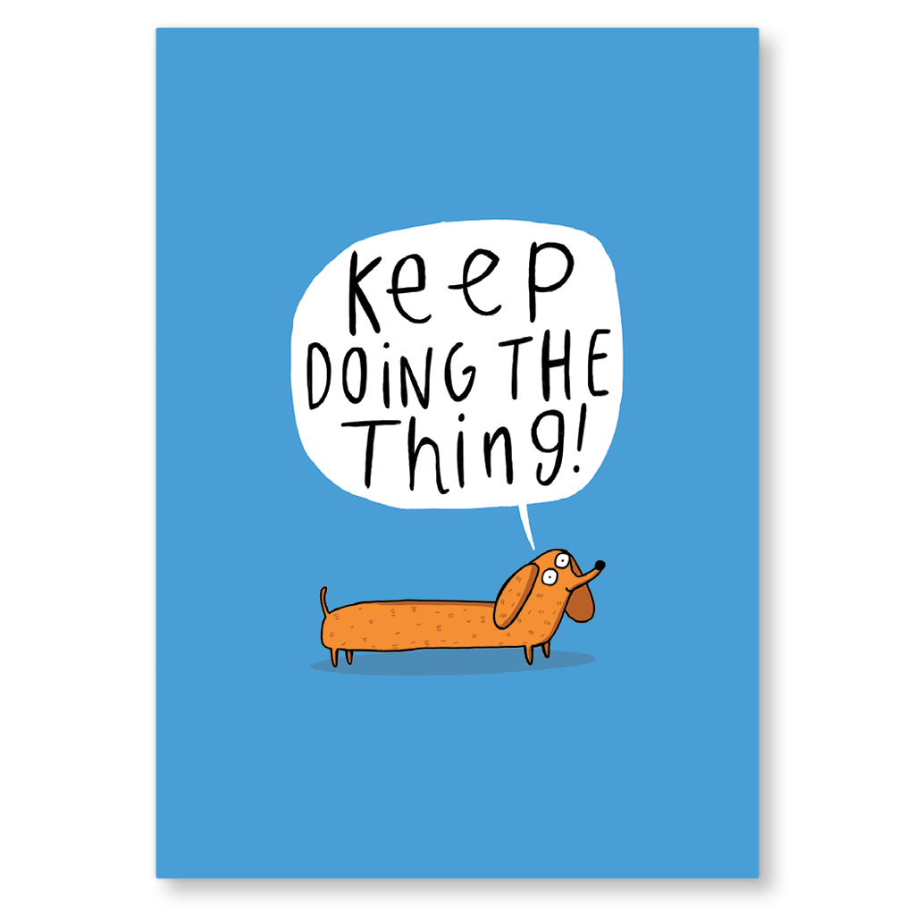 Keep Doing The Thing Postcard by Katie Abey - Whale and Bird