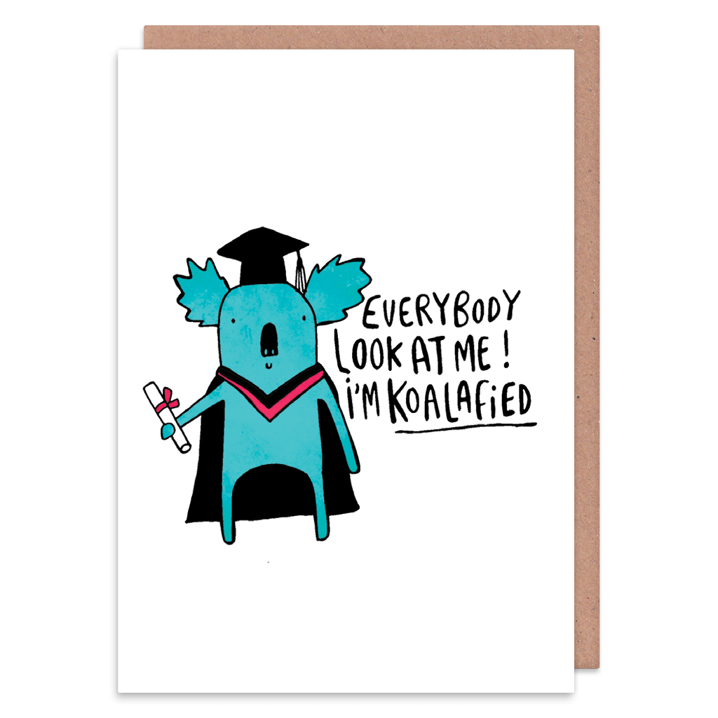 I'm Koalafied Graduation Card by Katie Abey - Whale and Bird