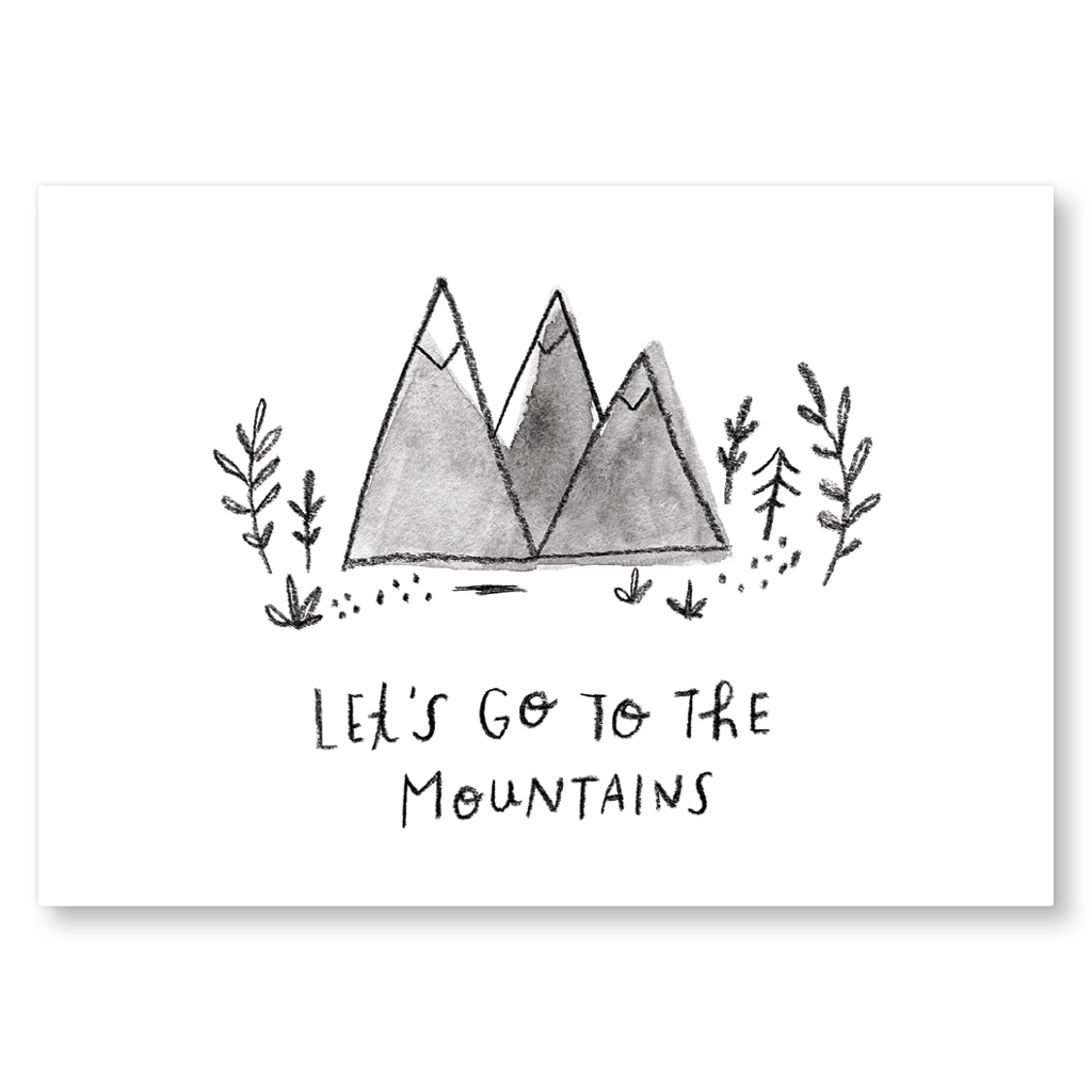 Let's Go To The Mountains Postcard by Jen B Peters - Whale and Bird