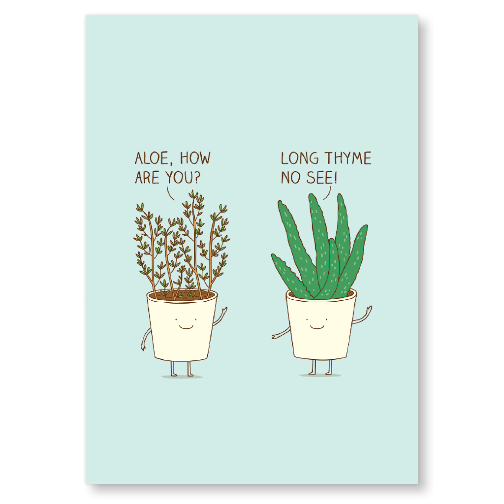 Long Thyme No See Postcard by Milkyprint - Whale and Bird