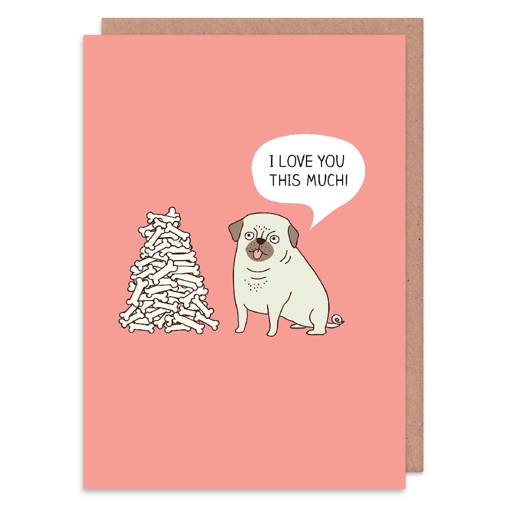 I Love You This Much Greeting Card by Milkyprint - Whale and Bird