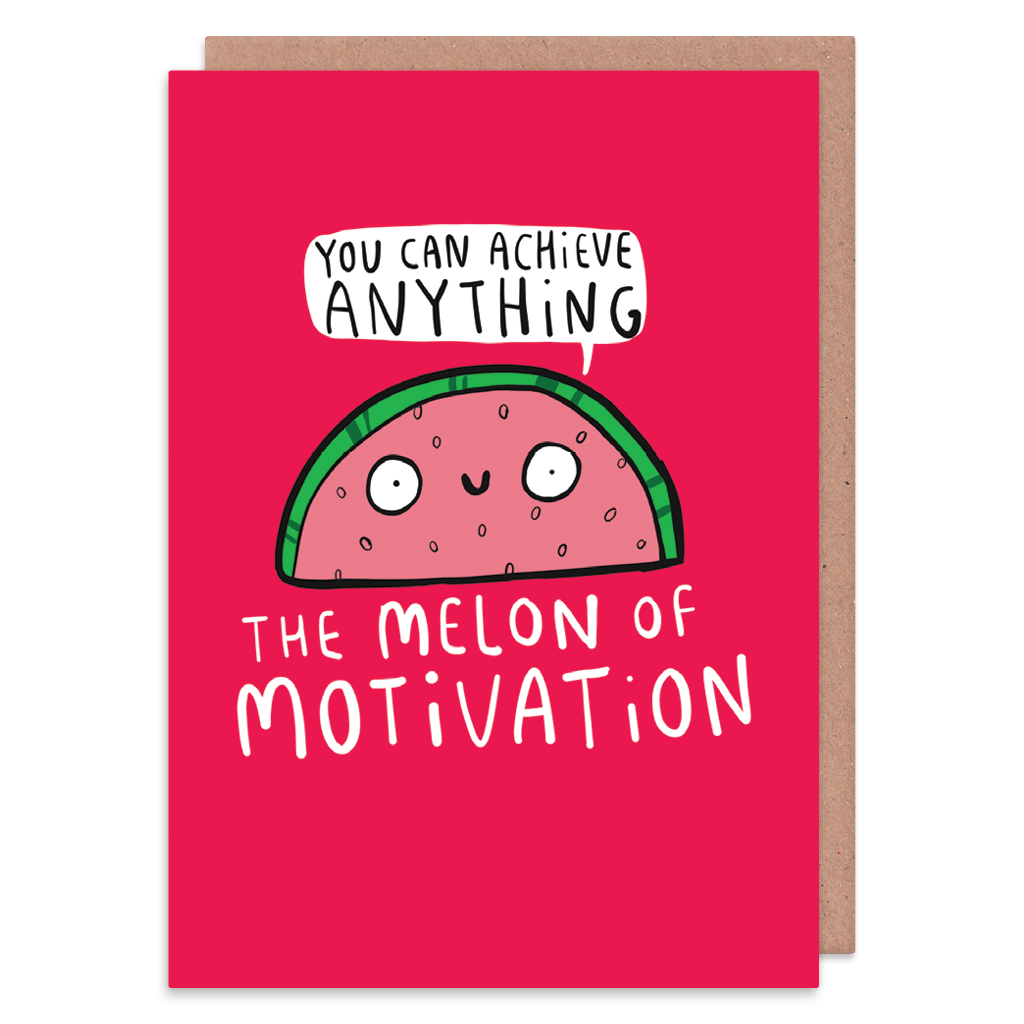 The Melon Of Motivation Greeting Card by Katie Abey - Whale and Bird