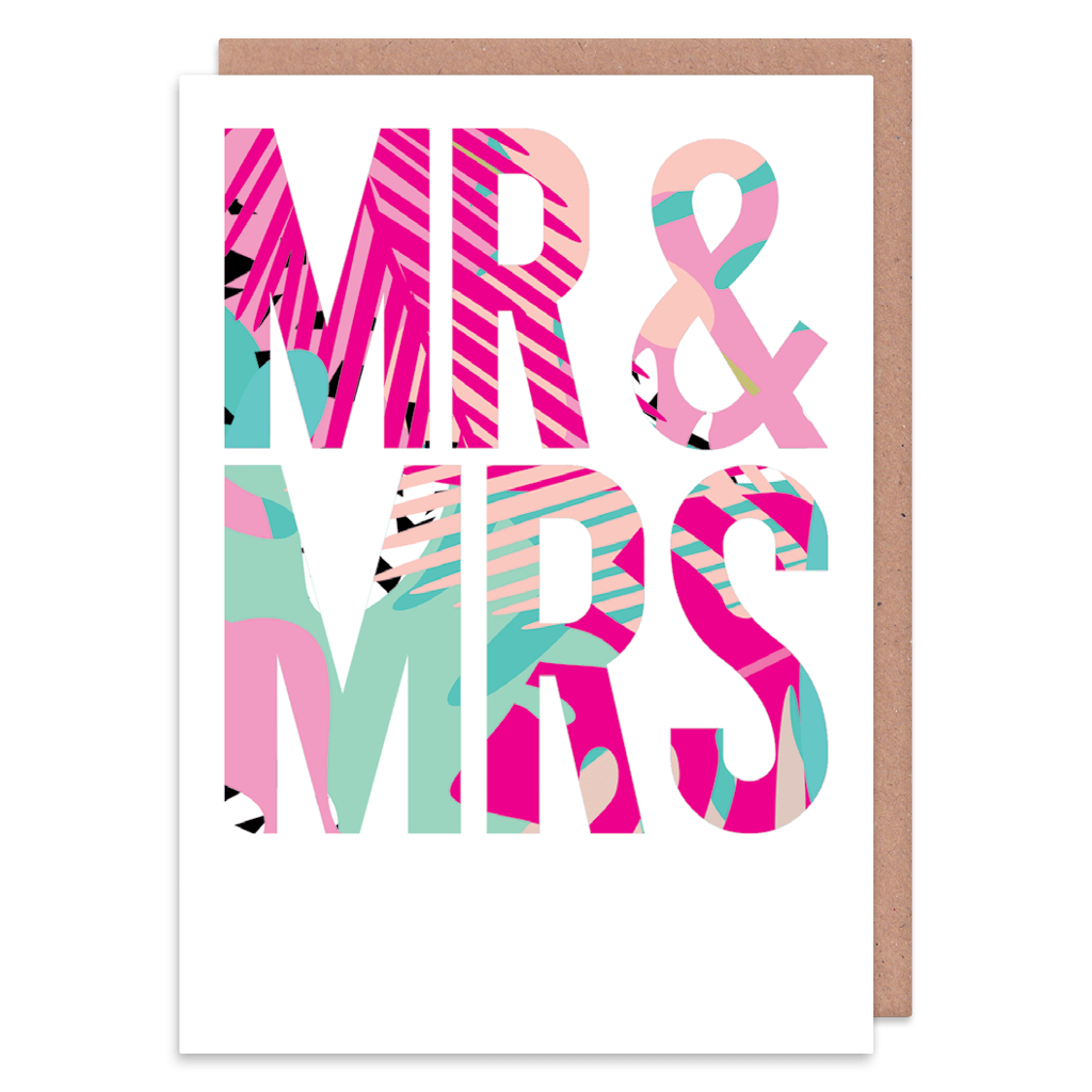 Mr And Mrs Tropical Wedding Card by Ooh I Like That - Whale and Bird
