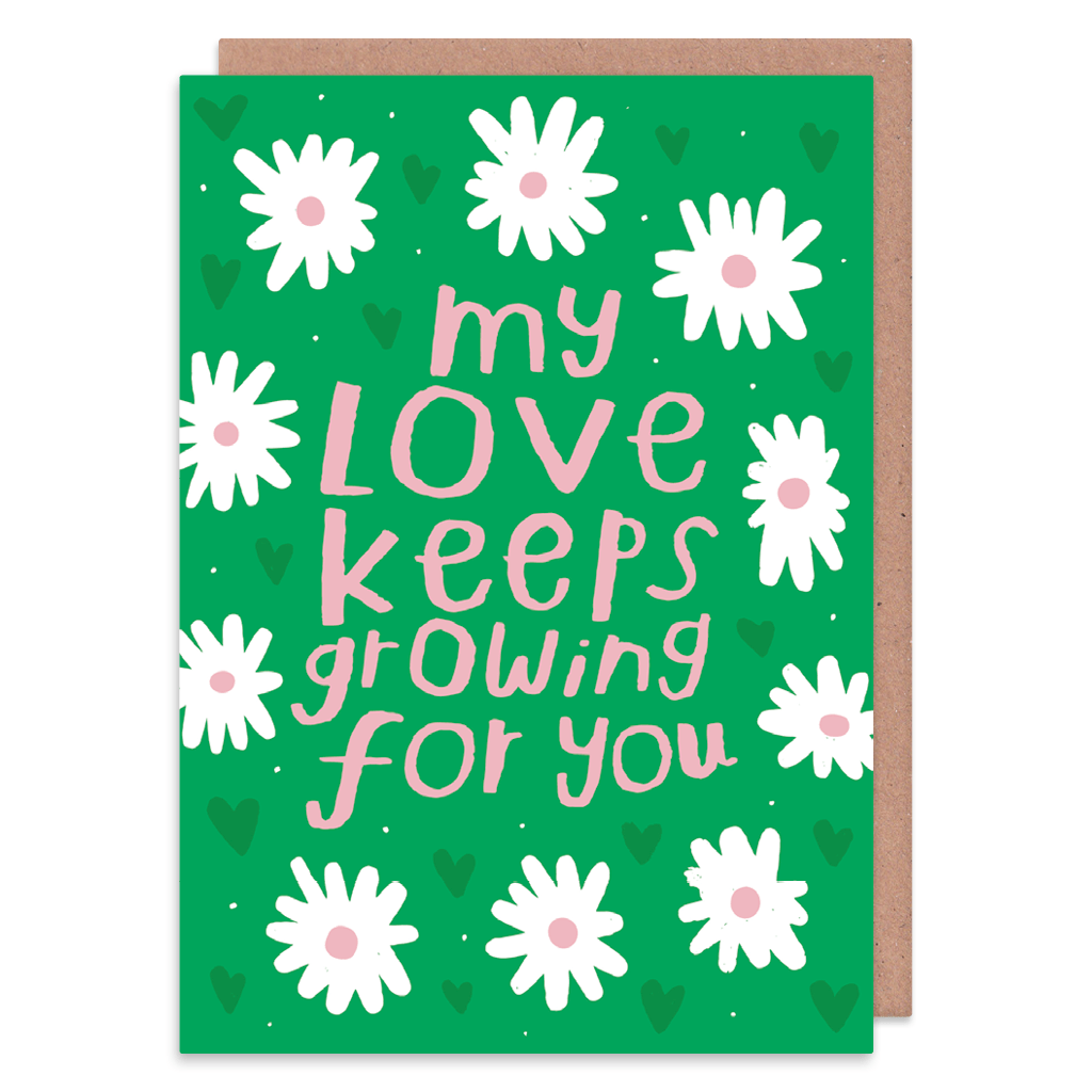 My Love Keeps Growing For You Greeting Card by Nikki Miles - Whale and Bird