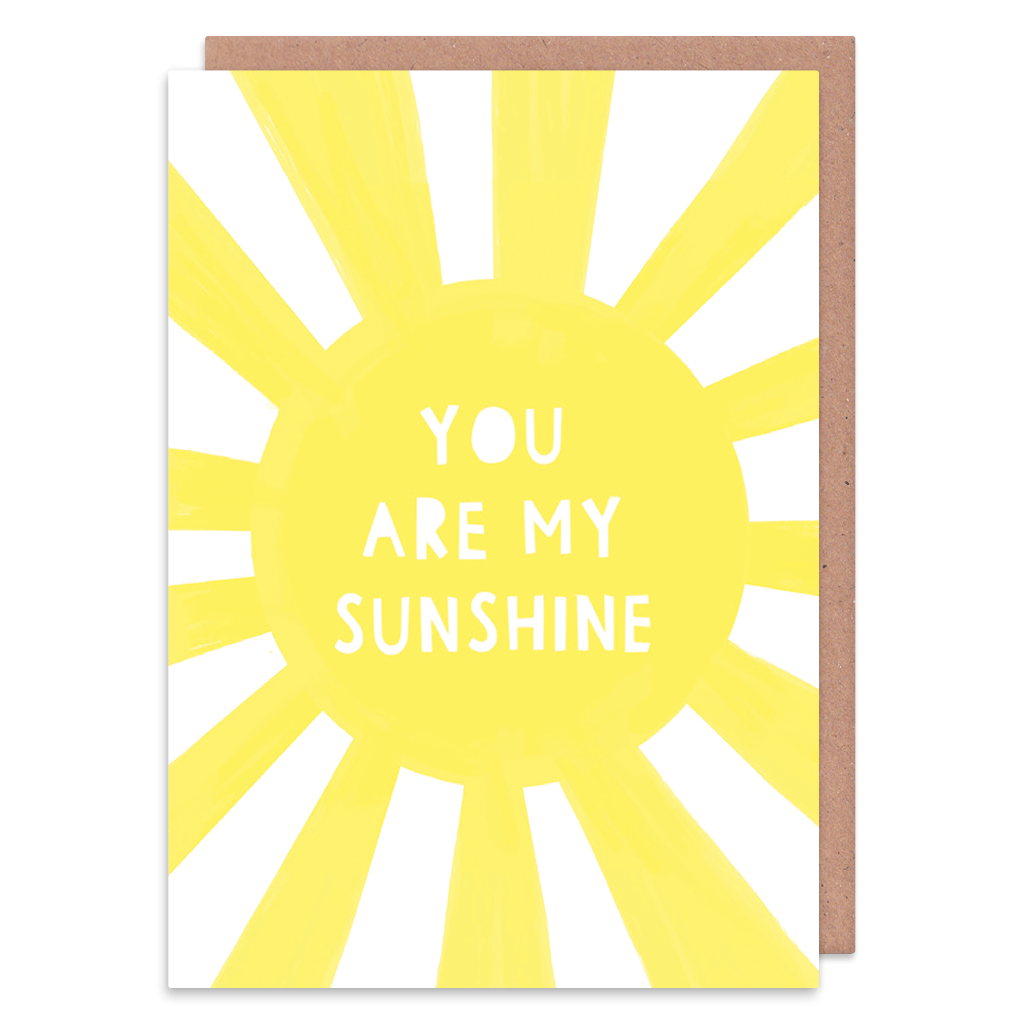 You Are My Sunshine Greeting Card by Zoe Spry - Whale and Bird