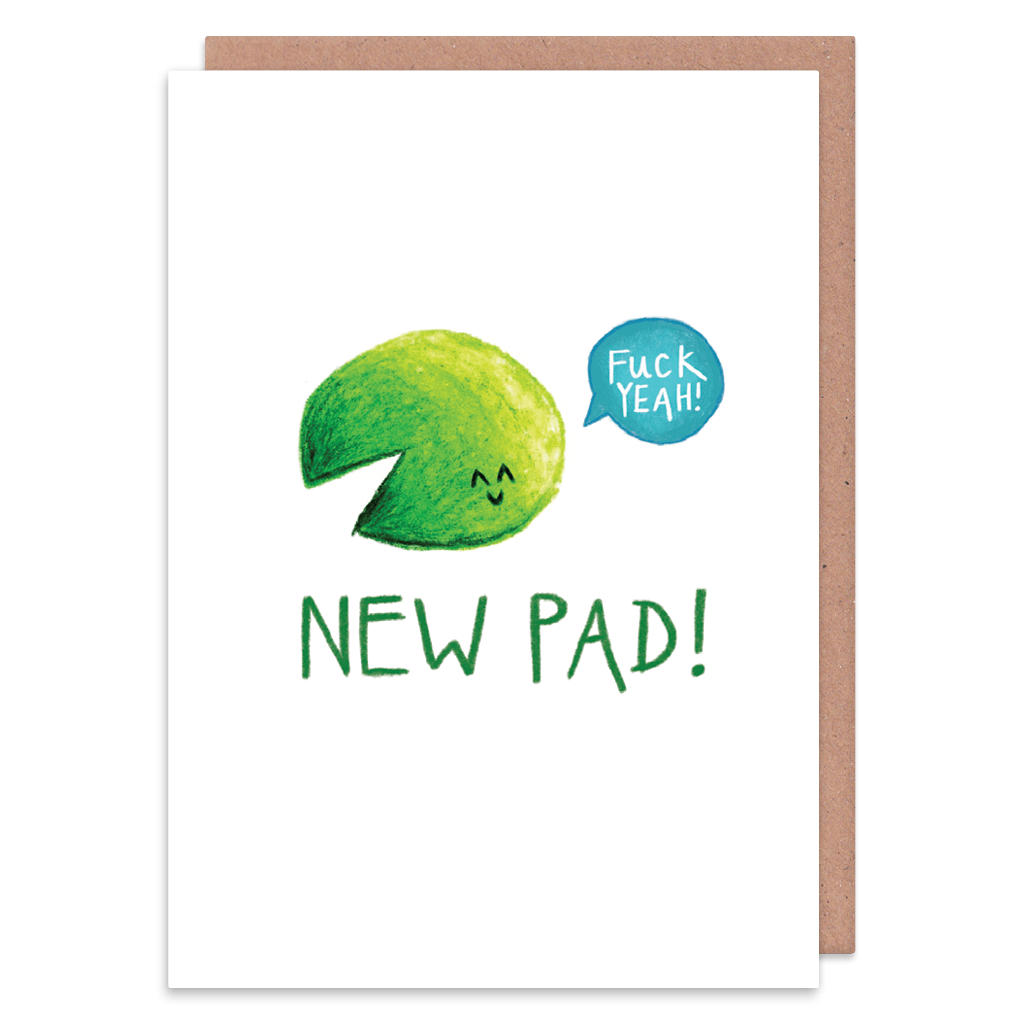 New Pad Fuck Yeah New Home Card by Holly Rutter - Whale and Bird