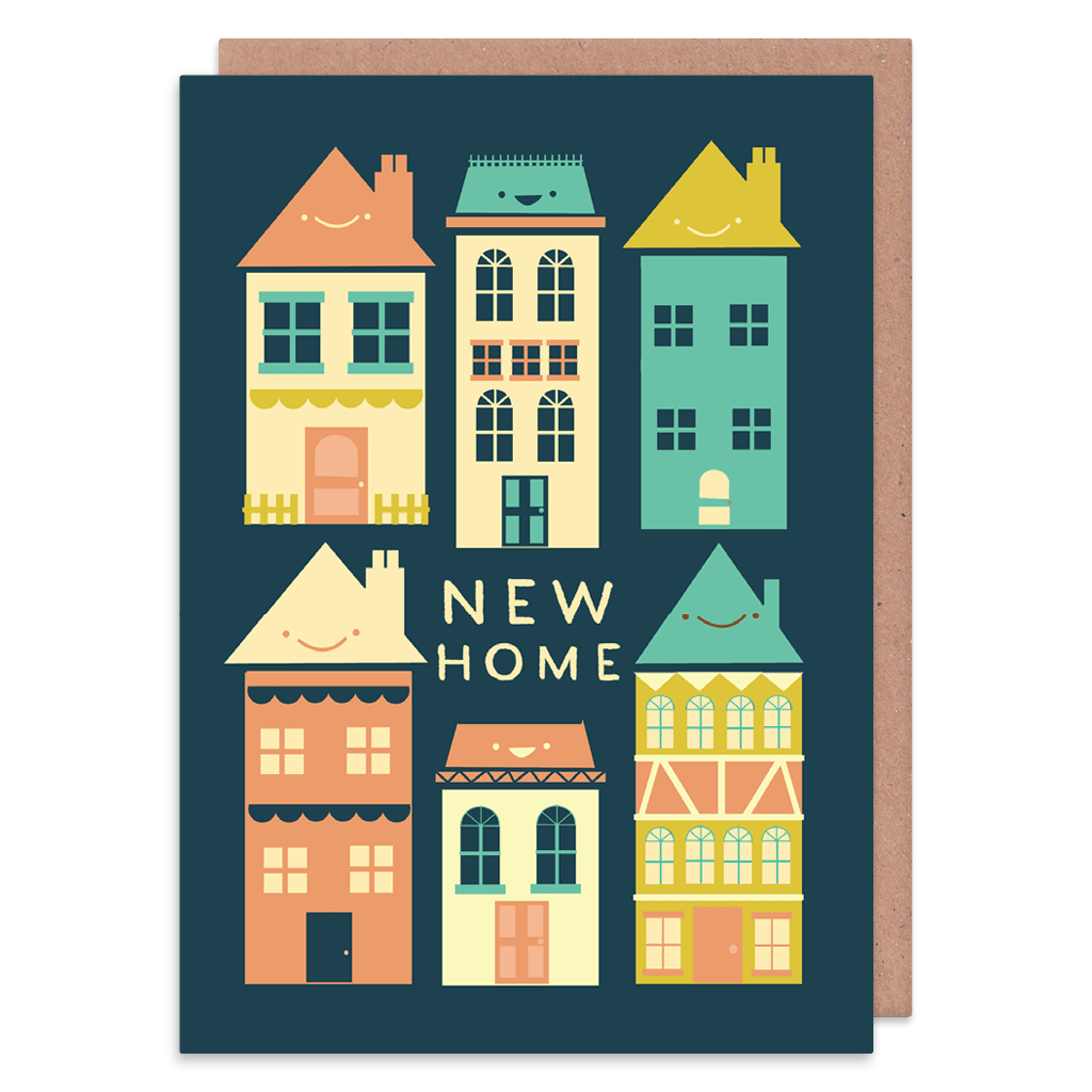 Nice Houses New Home Card by The Happy Pencil - Whale and Bird