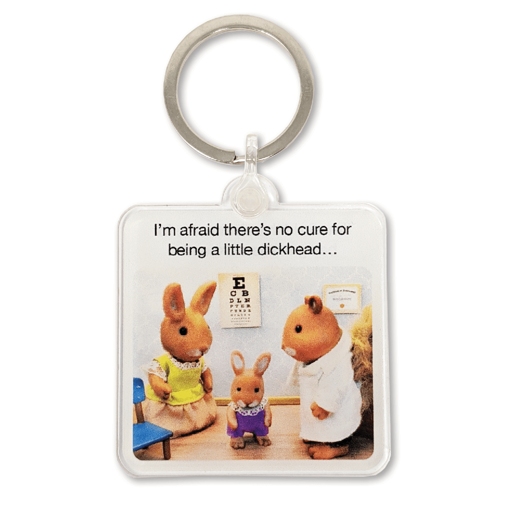 No Cure For Being A Little Dickhead Keyring by forest fr1ends - Whale and Bird