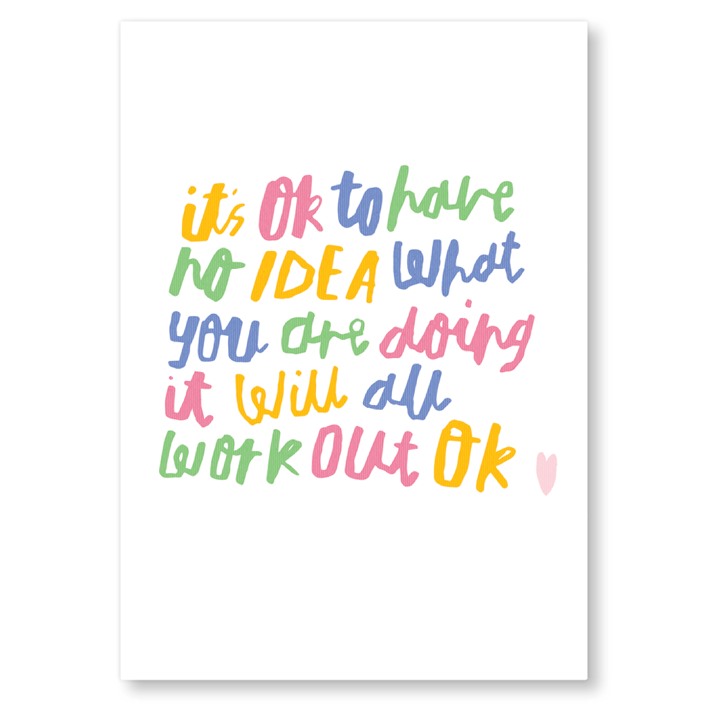It Will All Work Out OK Postcard by Nikki Miles - Whale and Bird