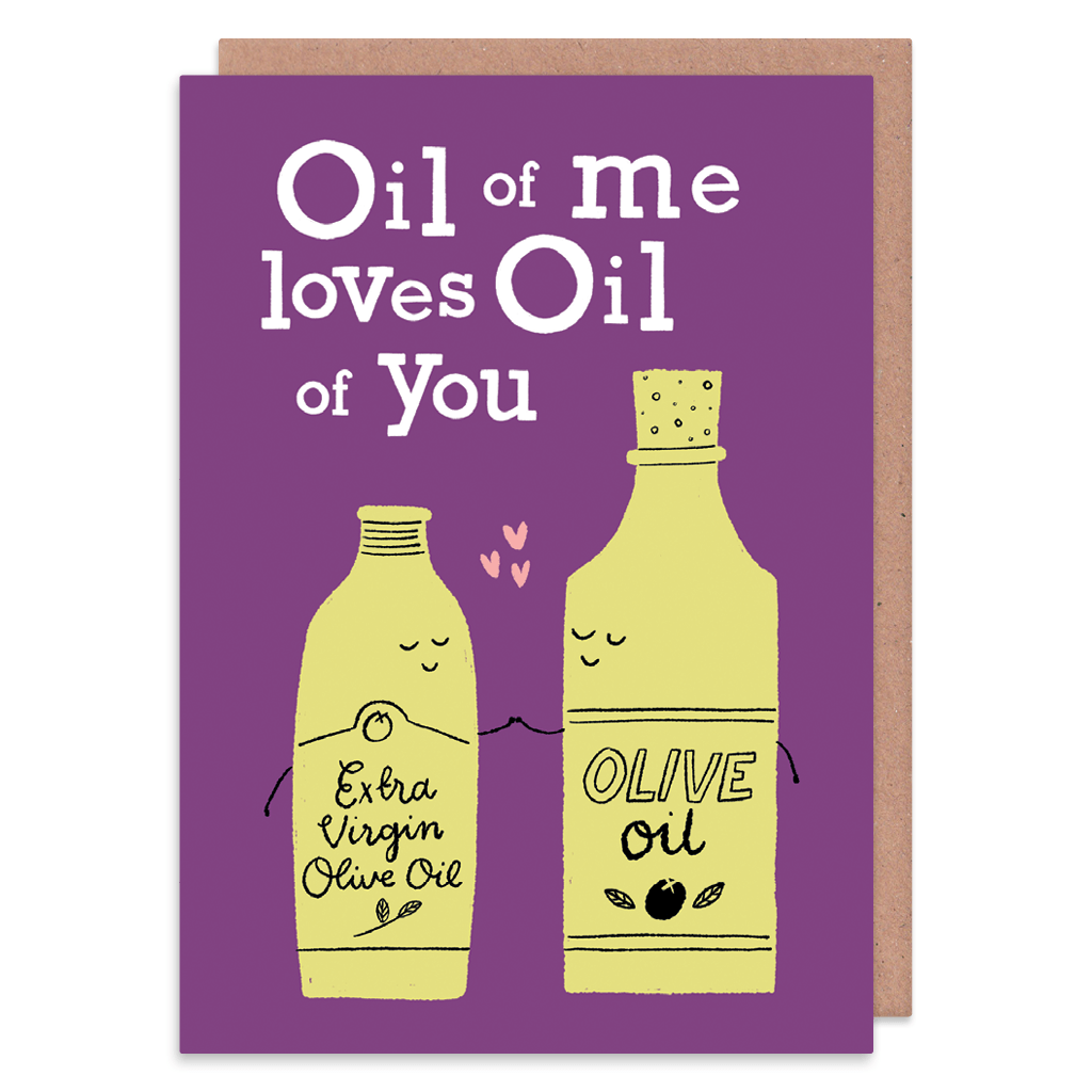 Oil Of Me Loves Oil Of You Greeting Card by Lisa Greener - Whale and Bird