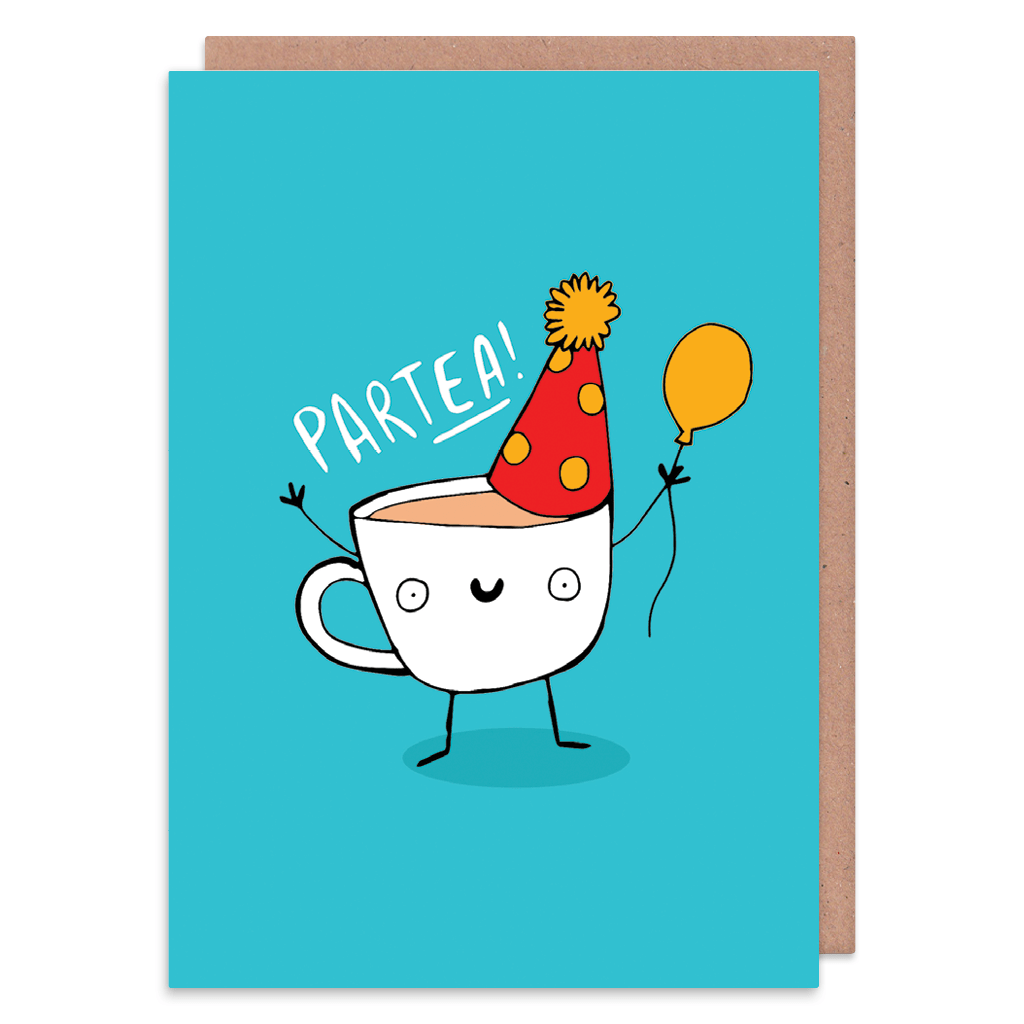 Partea Birthday Card by Katie Abey - Whale and Bird