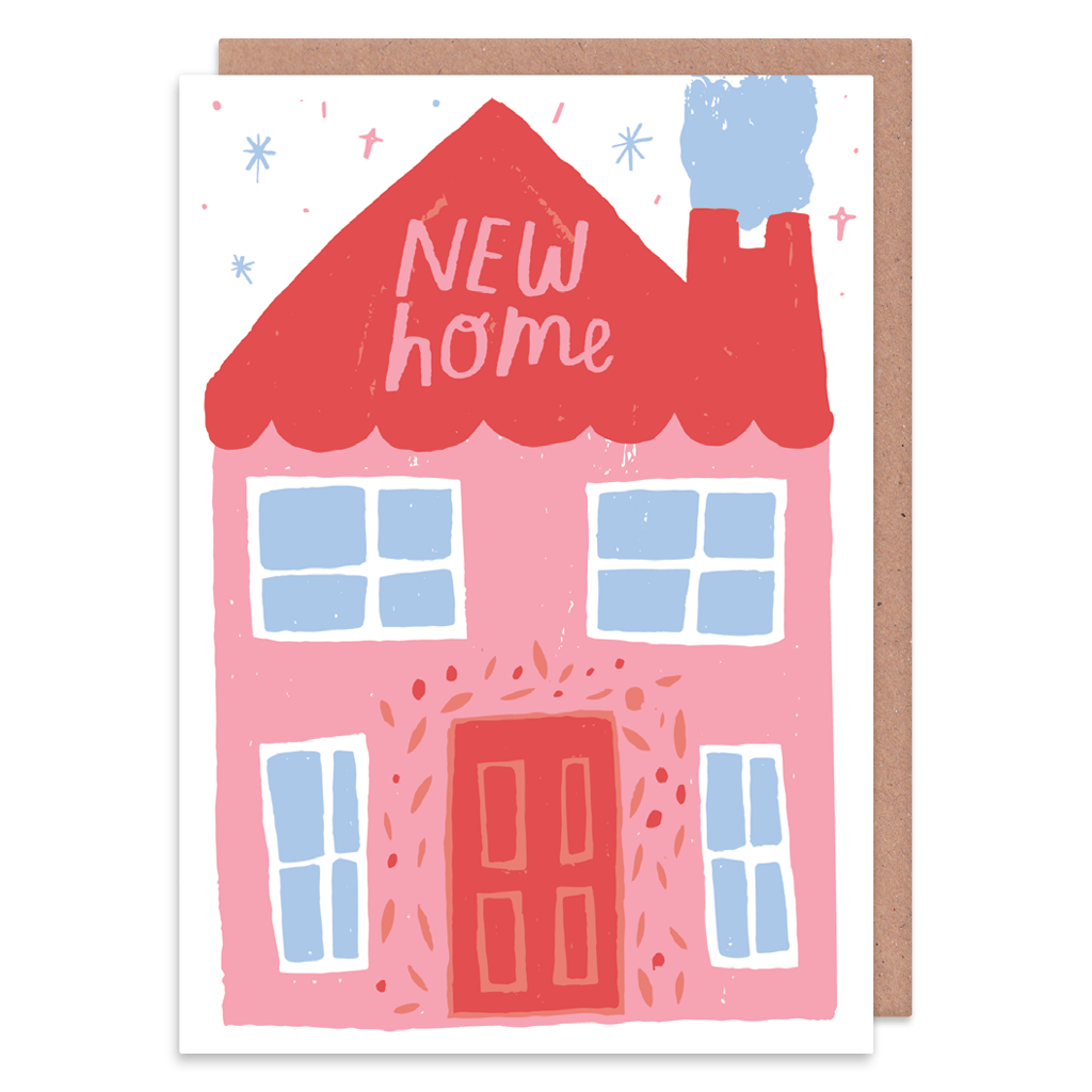 Pastel New Home Greeting Card by Nikki Miles - Whale and Bird