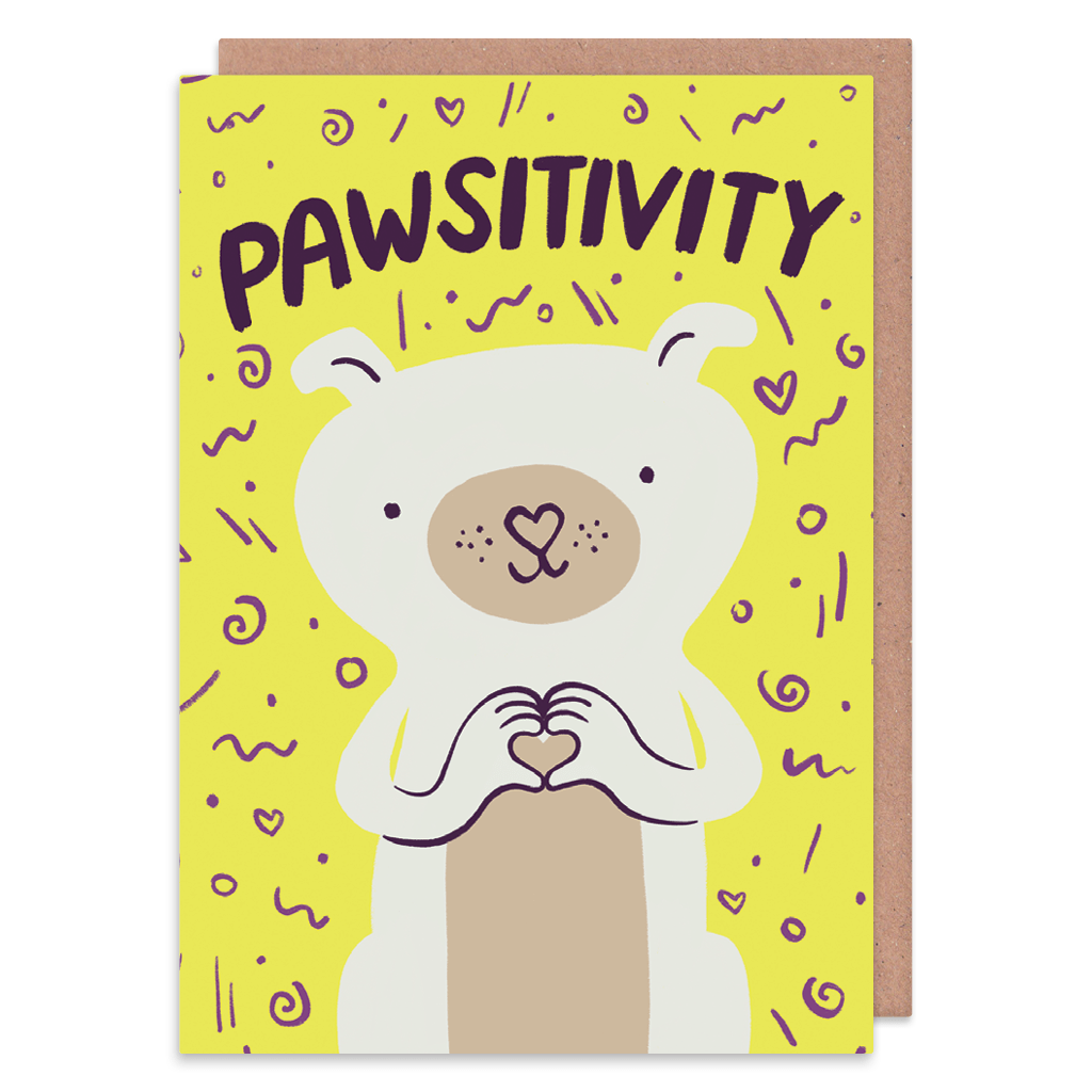 Pawsitivity Greeting Card by Lisa Greener - Whale and Bird