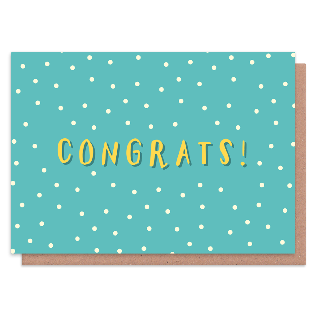Polka Dot Congratulations Card by The Happy Pencil - Whale and Bird