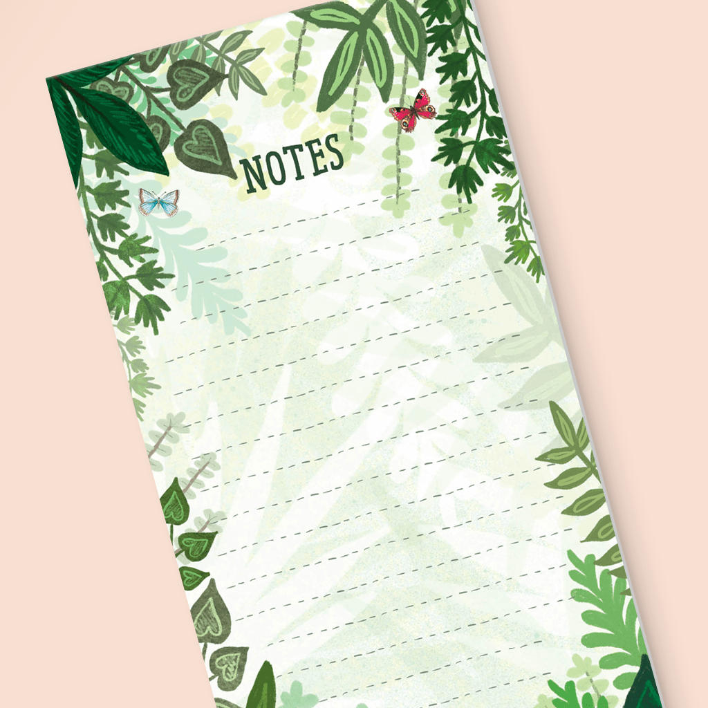 Pretty Jungle To Do List Pad by Mary Joy Harris - Whale and Bird