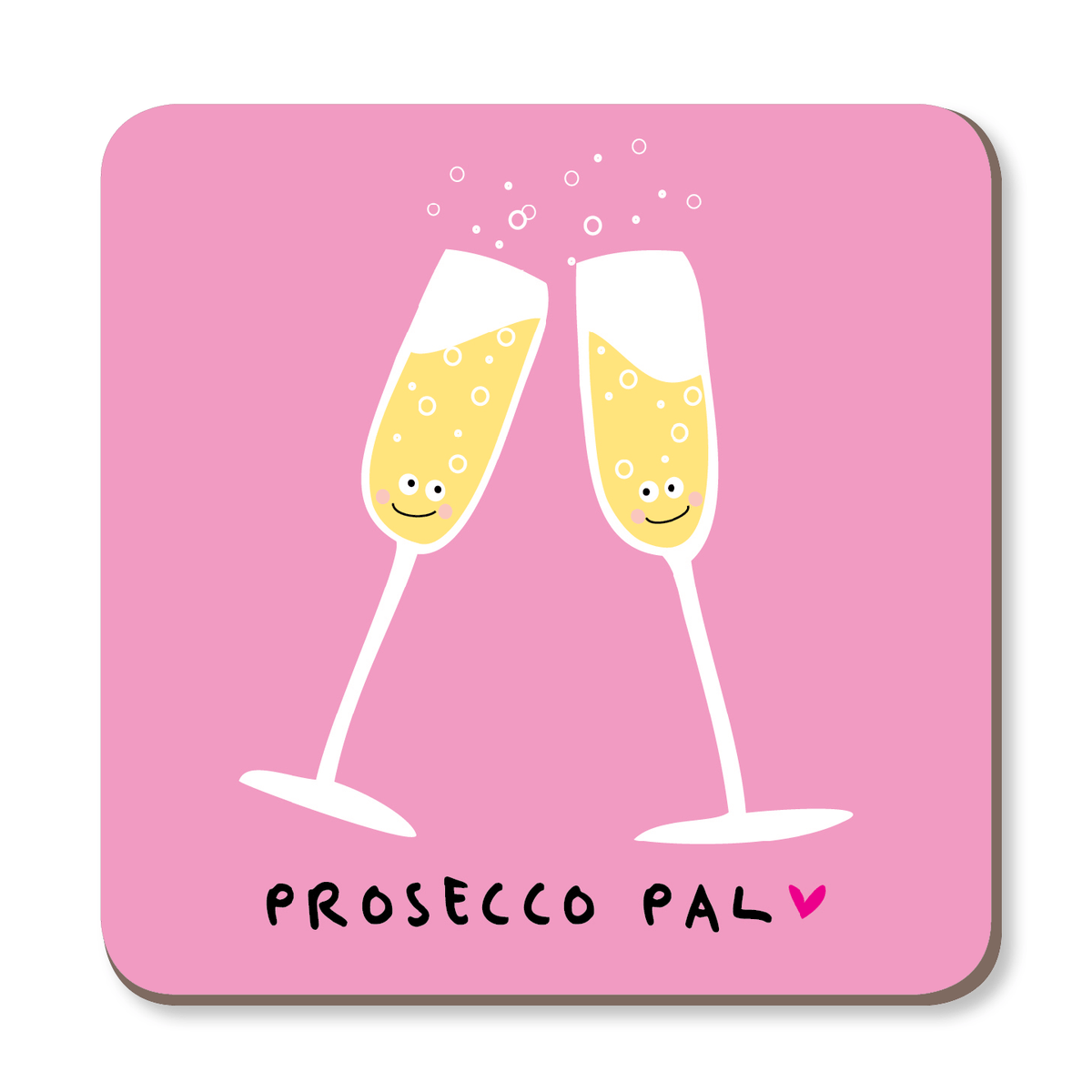 Prosecco Pal Boozy Coaster by Ooh I Like That - Whale and Bird