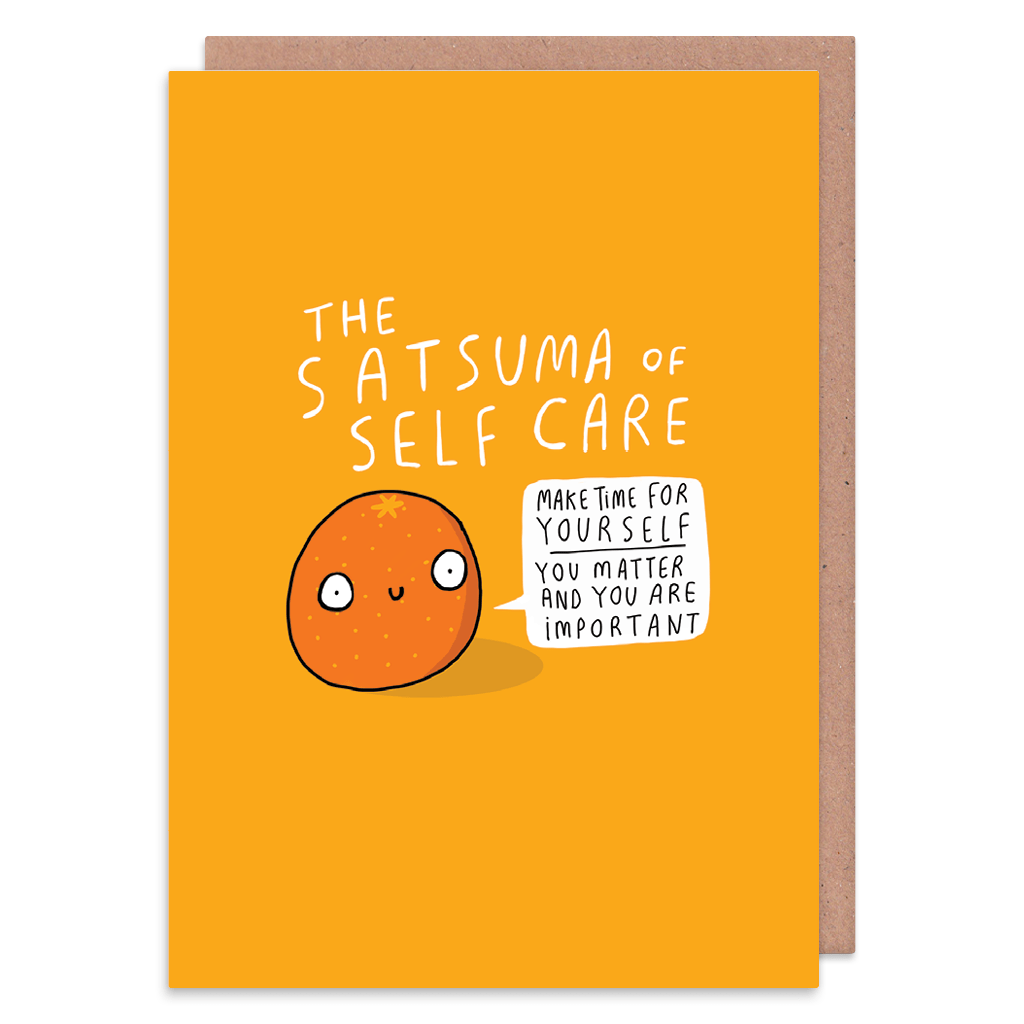 Satsuma Of Self Care Greeting Card by Katie Abey - Whale and Bird