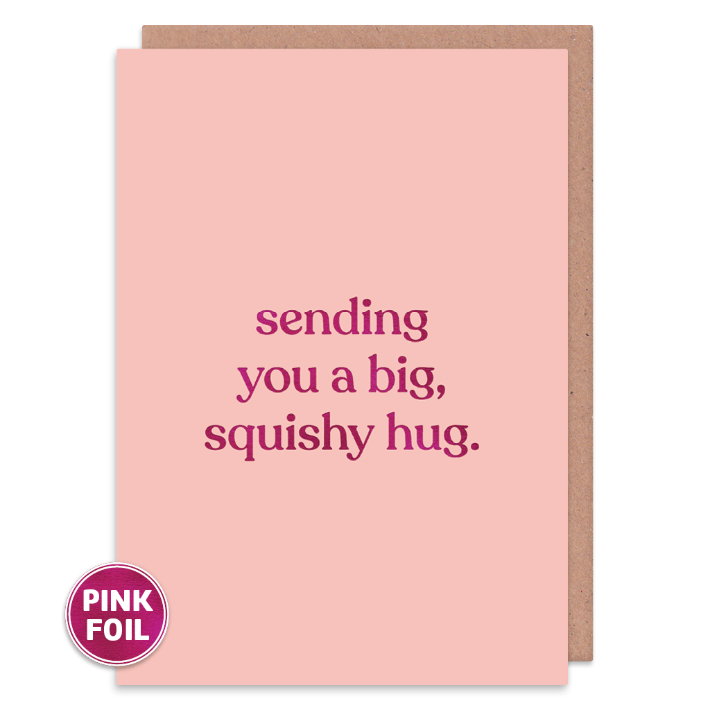 Sending You A Big Squishy Hug Greeting Card by Amy Wicks - Whale and Bird