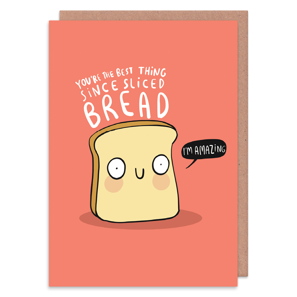 You're The Best Thing Since Sliced Bread Greeting Card by Katie Abey - Whale and Bird