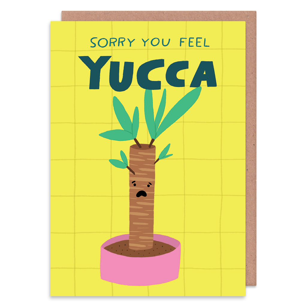 Sorry You Feel Yucca Get Well Soon Card by Lisa Greener - Whale and Bird