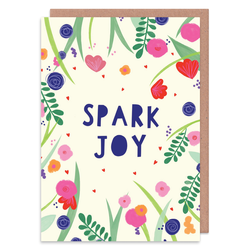 Spark Joy Floral Greeting Card by Zoe Spry - Whale and Bird