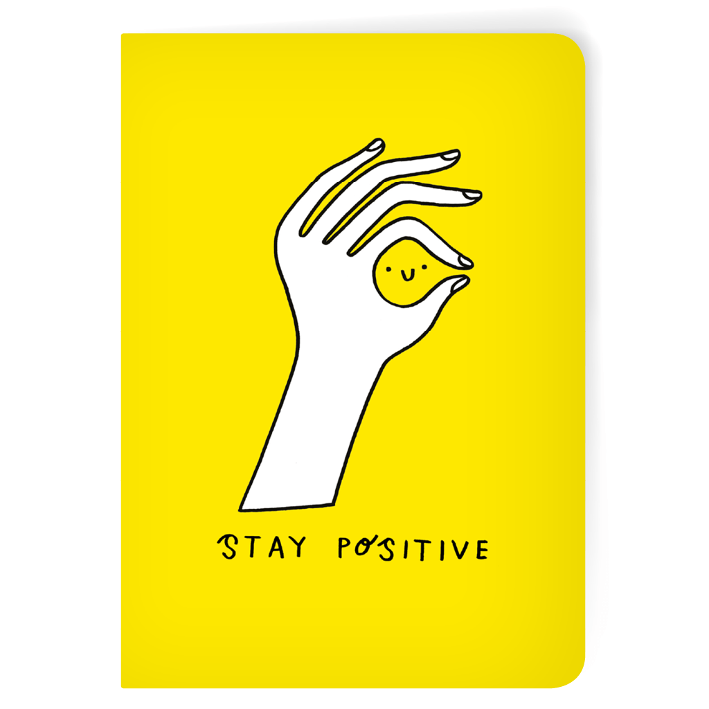 Stay Positive A5 Notebook by Alexandra Cook - Whale and Bird