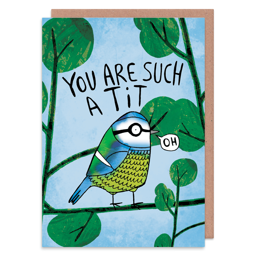 You Are Such A Tit Greeting Card by Katie Abey - Whale and Bird