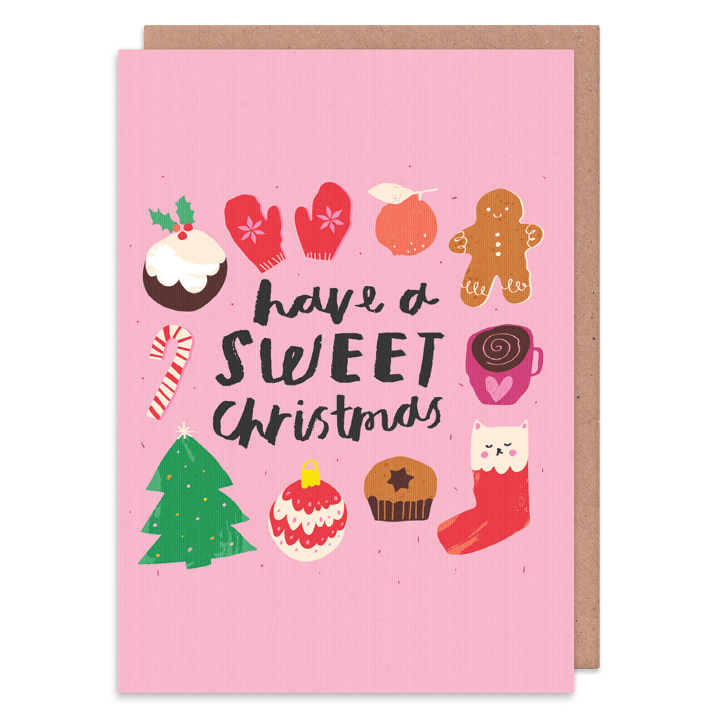 Have A Sweet Christmas Christmas Card by Nikki Miles - Whale and Bird