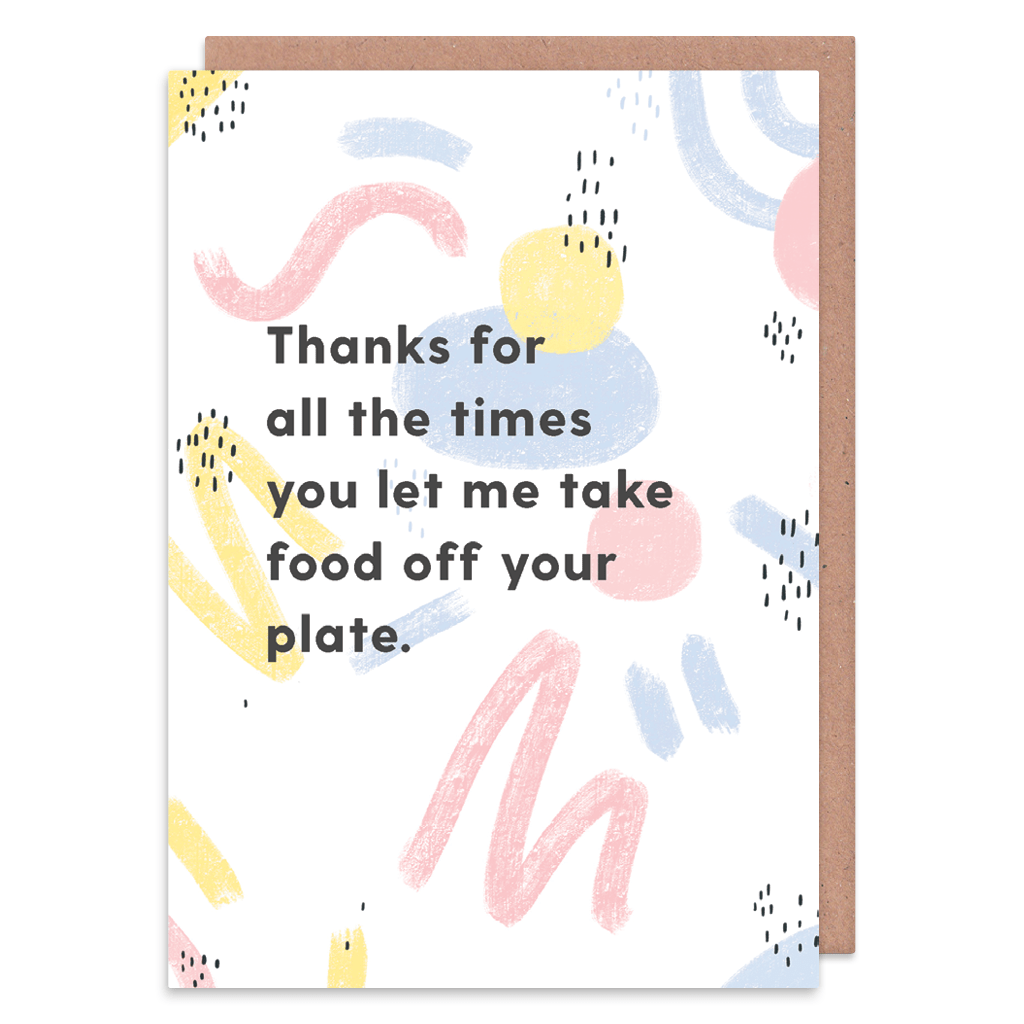 Take Food Off Your Plate Greeting Card by Abstract - Whale and Bird