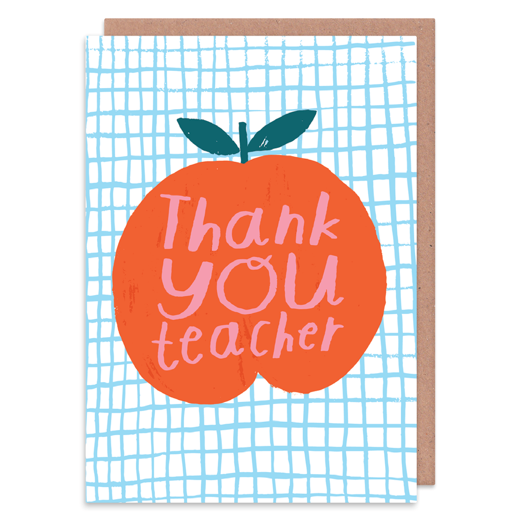 Thank You Teacher Greeting Card by Nikki Miles - Whale and Bird