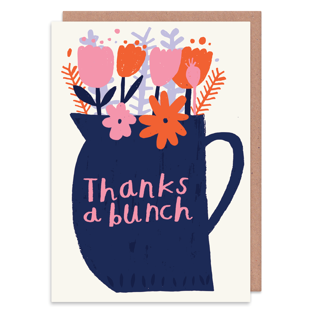Thanks A Bunch Greeting Card by Nikki Miles - Whale and Bird