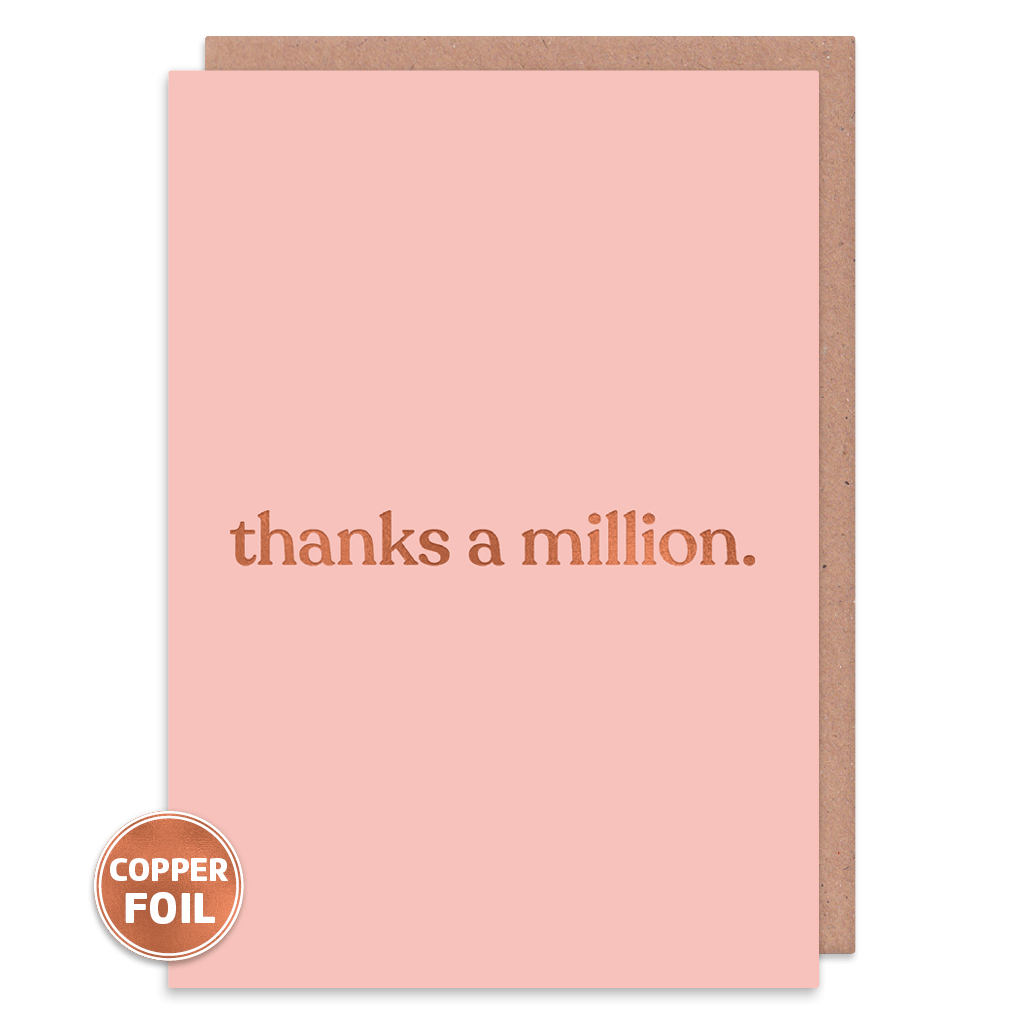 Thanks A Million Thank You Card by Amy Wicks - Whale and Bird