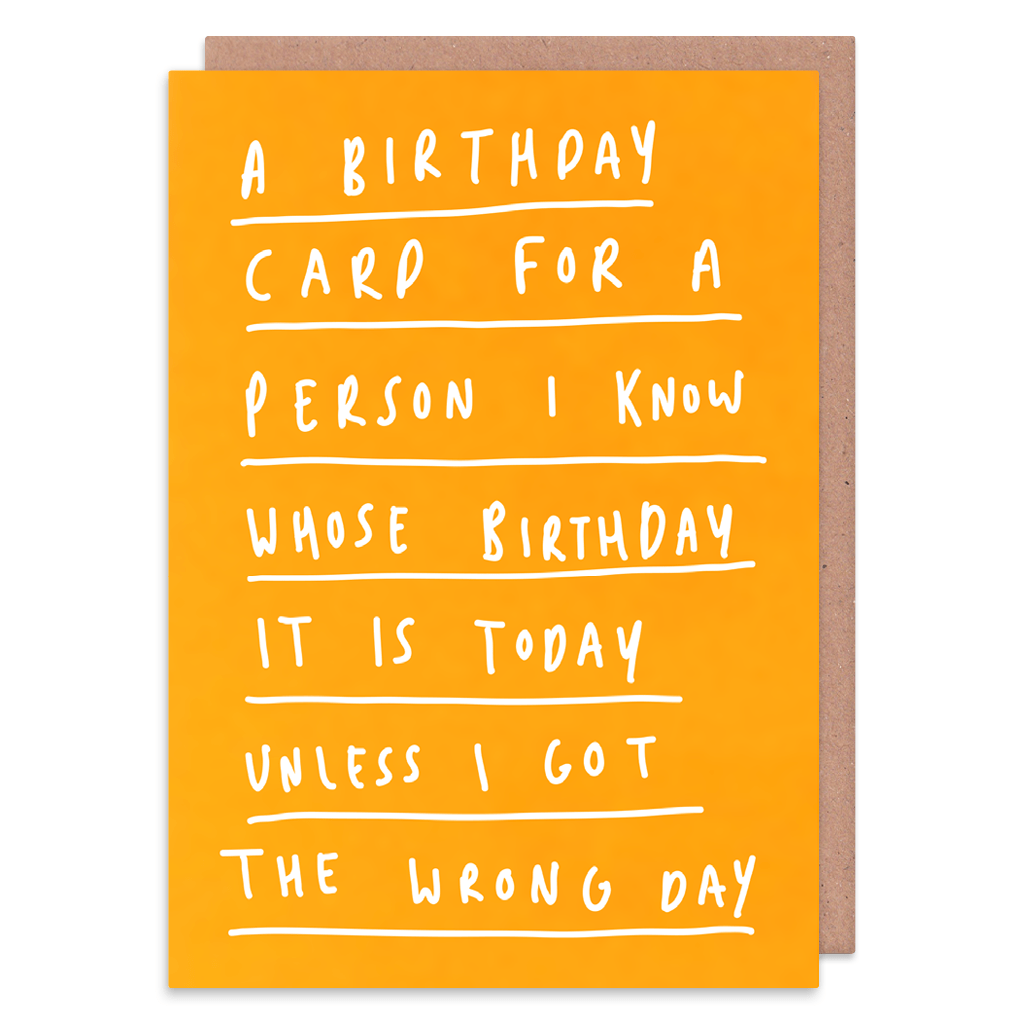 Unless I Got The Wrong Day Birthday Card by George The Cardmaker - Whale and Bird