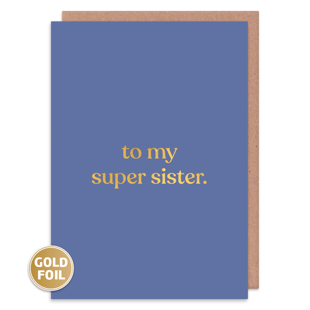 To My Super Sister Greeting Card by Amy Wicks - Whale and Bird